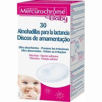 Discos para lactancia MERCUROCHROME Baby, caja 30 unid.