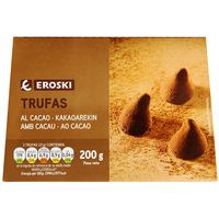 Trufas de chocolate EROSKI, caja 200 g
