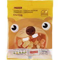 Caramelos masticables de ositos EROSKI, bolsa 125 g