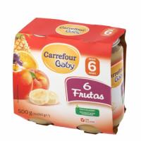 5df195209f03a9 Tarrito de 6 frutas desde 6 meses CARREFOUR BABY sin gluten pack de 2  unidades de