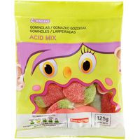 Gominolas Mix Acid EROSKI, bolsa 125 g